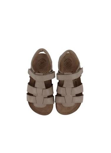Kids A More Holley Tek Cırtlı Deri Unisex Çocuk Sandalet Vizon Rengi Vizon